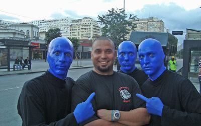 Blue Man Group no Carnaval carioca